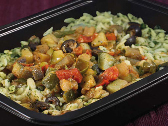 Renal meal, Vegetable Caponata with Orzo
